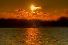 Coming Home (ristozz) Tags: sunset sea espoo finland evening sailing espoonlahti rantaraitti