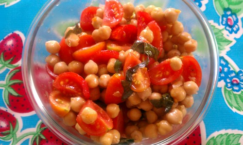 67: garbanzo bean tomato salad by besomom
