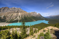Peyto Lake (Fil.ippo (on vacation)) Tags: park travel parco lake canada water montagne landscape rockies lago turquoise sigma glacier national alberta banff 1020mm hdr filippo turchese peyto ghiacciaio nazionale rocciose d5000