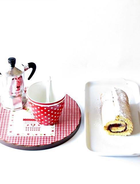 Rotolo di Lamponi con Crema al Cioccolato e Miele (2)