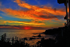 Sunset in Laguna Beach (Dave Toussaint (www.photographersnature.com)) Tags: ocean california ca street travel sunset sea usa color nature water clouds photoshop canon landscape one coast photo interestingness interesting colorful niceshot photographer pacific cs2 picture sunsets august hwy explore pch highway1 adobe nights sunrises ruby southerncalifornia storms lagunabeach 1001 infocus 2011 denoise 60d topazlabs topazadjust photographersnaturecom davetoussaint doubleniceshot ringexcellence dblringexcellence