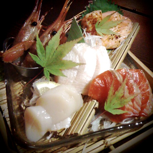 Smack-yo-mama fresh sashimi at Guu Garden  in Vancouver, BC by Melody Gourmet Fury