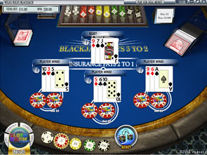 Blackjack Multi-Hand Rival game