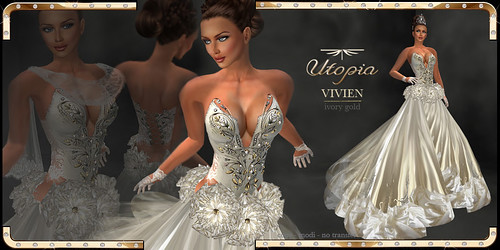 Vivien Ivory Gold by Cherokeeh Asteria
