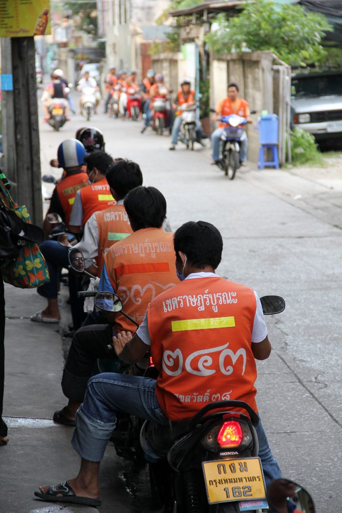 Motorcycle Taxis in Bangkok, Thailand