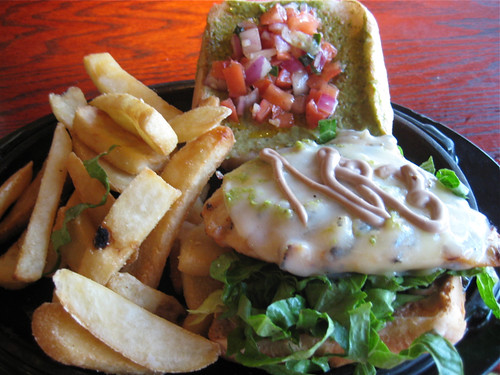 Red Robin Chicken Bruschetta sandwich