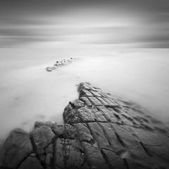E S S (Weeman76) Tags: uk longexposure sea bw seascape southwest monochrome mono nikon rocks tide somerset le limestonepavement d90 kilve sigma1020mmf456exdchsm nd110 niksoft silverefexpro2