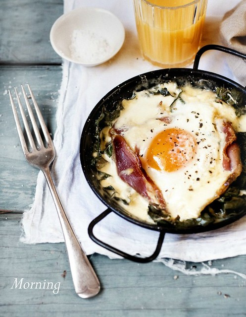 4 ALittleRelish-Baked Eggs Spinach Prosciutto