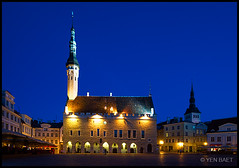Tallinn - Old Town Hall in Raekoja Plats (Yen Baet) Tags: city travel sunset tower church architecture buildings twilight ancient europe tallinn estonia cityscape cathedral hill gothic scenic culture eu landmark icon tourist medieval unescoworldheritagesite esplanade limestone picturesque iconic europeanunion cultural stnicholaschurch estonian hanseatic oldtownhall kadriorg europeancapitalofculture stolafschurch raekojaplats europeancities europeanchurches virugate toompeahill europeancapital