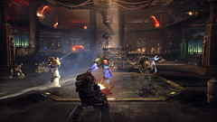 Space Marine - Co-Op Mode (THQ Insider) Tags: game screenshot action explosion 40k videogame shooter ultramarine combat warhammer40000 relic thq gamesworkshop ork gunfire spacemarine bolter chainsword exterminatus