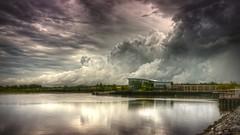 Jersey City (mudpig) Tags: light cloud storm reflection rain golf newjersey nikon jerseycity hurricane nj course thunderstorm irene gothamist pga hdr bayonne golfclub d300 lpga libertynational mudpig portliberte stevekelley hurricaneirene portliberty stevenkelley