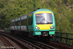 171728   Riddlesdown Viaduct   02/09/2011 (_Southern Adventurer) Tags: with an viaduct southern service across bound crawls turbostar uckfield riddlesdown 171728