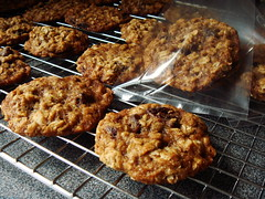 Oatmeal Cherry Nut Cookies