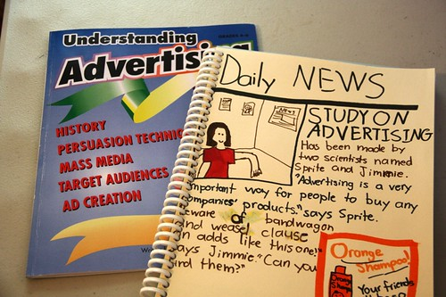 advertising unit book and notebook
