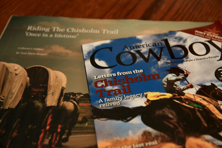 Chisholm Trail article by Bob Welch with my photos to highlight it