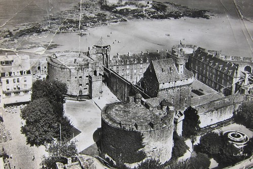 Old French Postcard of a Castle by Danalynn C