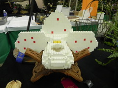Lego Paphiopedilum sculpture by David (Aeranthes) Tags: orchid minnesota orchids lego statefair legos slipper minnesotastatefair paphiopedilum slipperorchid slipperorchids