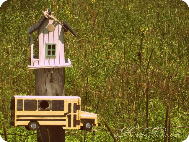 school bus birdhouse