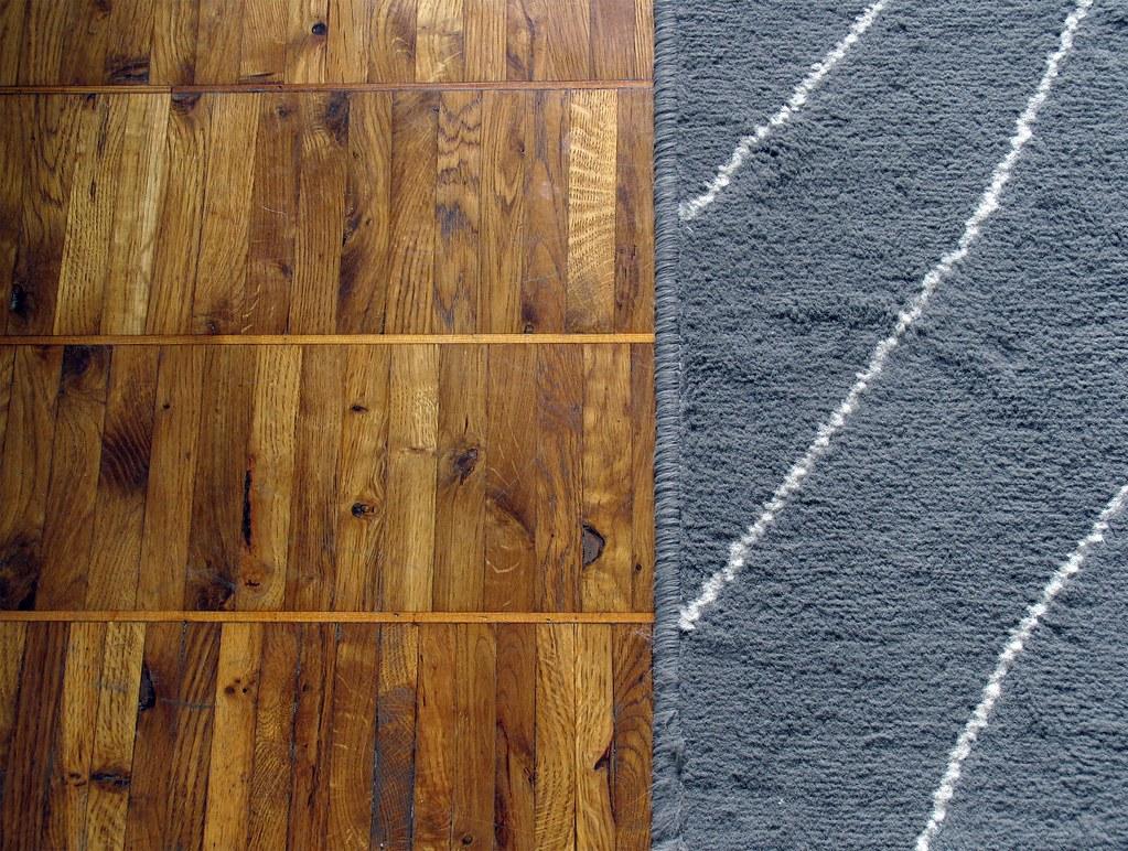 Parquet Floor/Ikea Rug