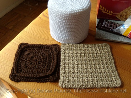s'mores, crochet: pieces