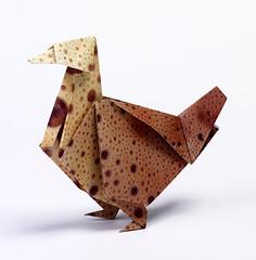 Origami création - Didier Boursin - Tourterelle