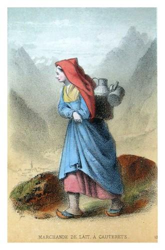 015-Vendedora de leche en Cauterets-Costumes pyrénéens-1860