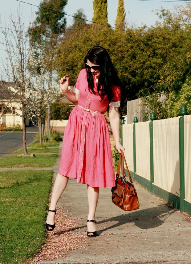 pink pom pom dress d