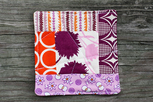 Quilted Logcabin Coaster Tutorial - In Color Order