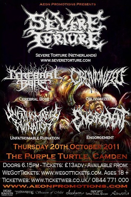 Severe Torture UK gig listings