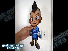 Geek Mythology Crafts Chibishou 2.0 Bead Sprite Sokka (Geek Mythology Crafts) Tags: videogames pixelart 8bit hamabeads perlerbeads geekcraft beadsprite nabbibeads