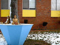 Buddha in the Snow (Braintree, MA)