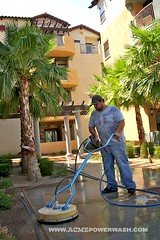 Cleaning Hotel Sidewalks by ACME POWERWASH