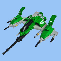 Gacchiri VT-X Fighter (Fredoichi) Tags: neon fighter lego space military videogames scifi spaceship shooter shootemup starfighter shmup fredoichi neontype odetonnenn itevengotcloneparts