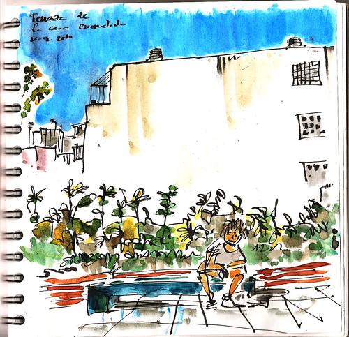 De vuelta con el cuaderno en la terraza de la casa encendida - Terraza la casa encendida ...