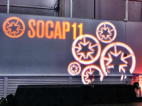 SOCAP11 light projection logo