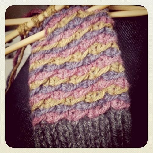 daisy stitch handwarmers