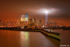 9/11: Tribute of Light (rtanphoto) Tags: nyc longexposure nightphotography newyork manhattan worldtradecenter 911 terrorism september11 patriotism bigapple twintower cs4 10thanniversary tributeoflight niksoftware oneworldcenter rommeltan rtanphoto