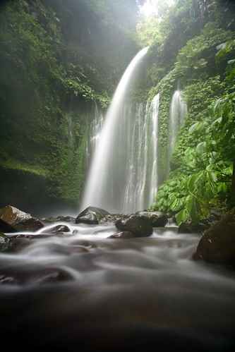 Sendang Gile Waterfall in Lombok