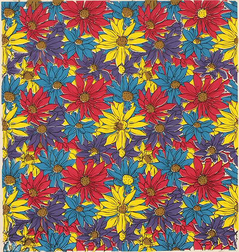 Colorful Flower Pattern Screenprint