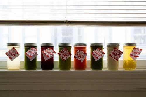 CAN CAN Cleanse juices all lined up