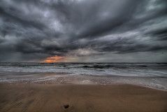bad weather sunset over northsea, Danmark (magnetismus) Tags: beach this coast picture northsea take danmark hdr