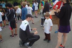 Miles running the Whole Foods Kids Fun Run (1 mile) - 09/18/11 (Clampants) Tags: running run wholefoods miles funrun 652 teammonster