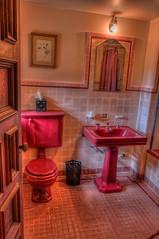 Pinewood Estate Pink Bathroom (Photomatt28) Tags: pink bathroom florida nik hdr topaz lakewales photomatix boktowergardens pinewoodestatepinkbathroom