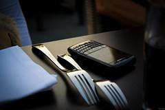 Diner (Jur 1989) Tags: sunset white black glass silver table cola seat diner fork tablet