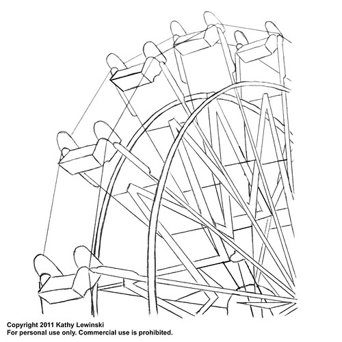 Ferris Wheel Embroidery Pattern