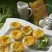 Egg, cheese and broccoli quiche in a delicate mini pastry.