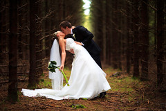 . (Dan. D.) Tags: wood portrait flower trash canon landscape groom bride kiss dress 85mm 5d lover weeding mkii f12