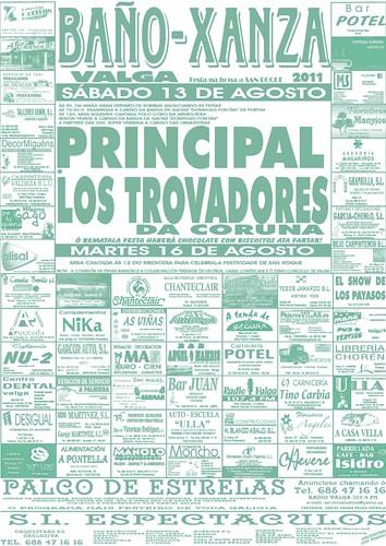 Valga 2011 - Festas de San Roque en Baño-Xanza - cartel