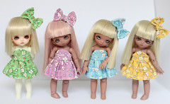 (Aya_27) Tags: blue girls white cute green girl rose yellow squirrel doll lily sweet girly colorfull lavender puff dresses bow belle bjd handsewn mywork lovely dollfie hybrid fairyland madebyme dollie piki puki latidoll lati pukpuki