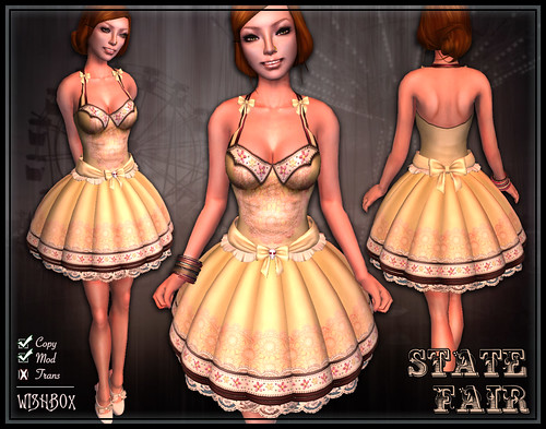 State Fair Dress (Yellow)